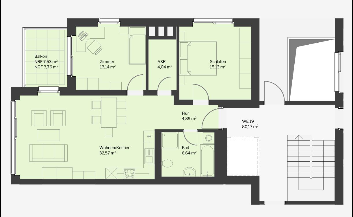 3 Zimmer Schillerquartier