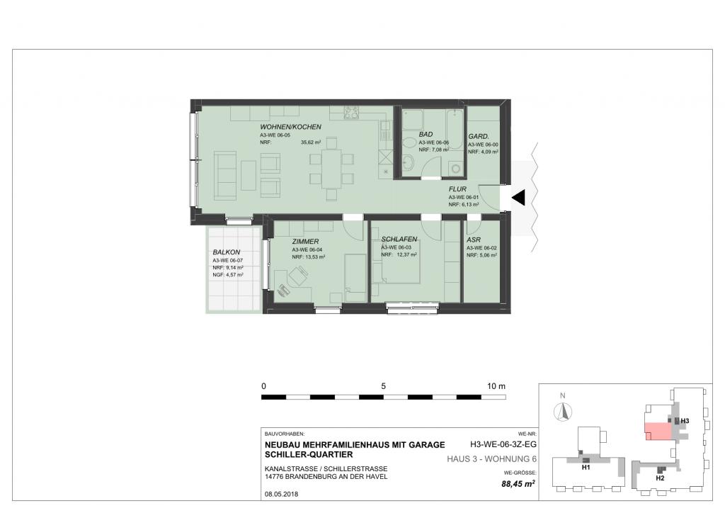 60 Quadratmeter Wohnung